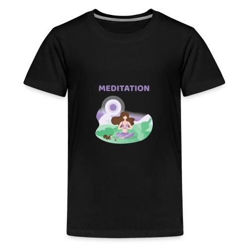 Yoga Meditation - Maglietta Premium per ragazzi