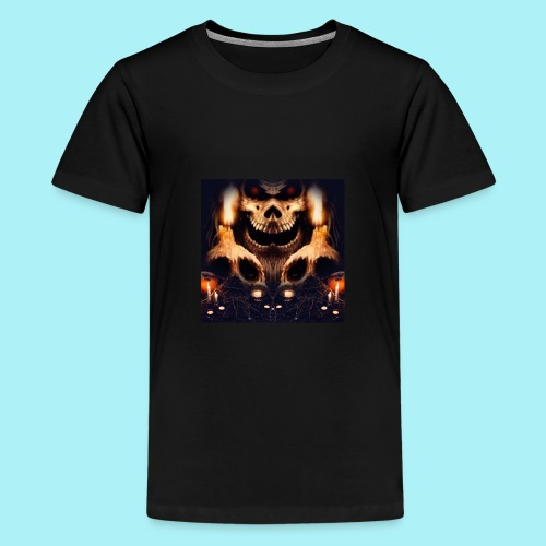 Tête de mort à la chandelle - T-shirt Premium Ado