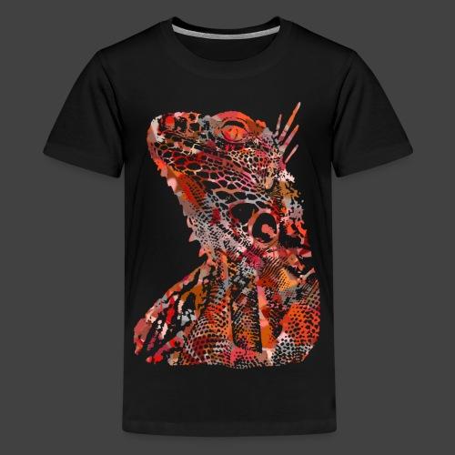 LIZARD1 - RED - Teenage Premium T-Shirt