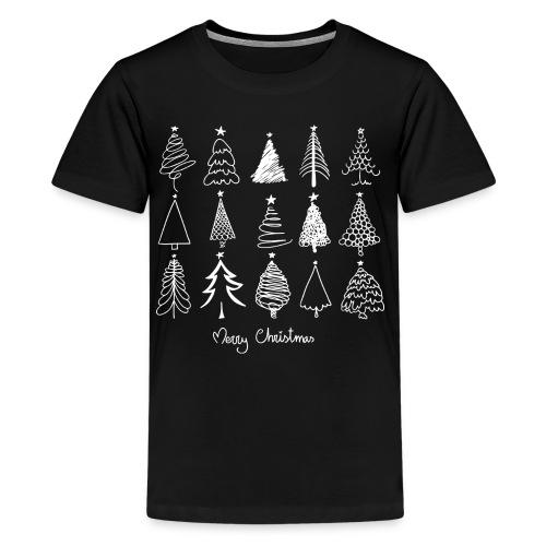 Merry Christmas Sapins de Noël - T-shirt Premium Ado
