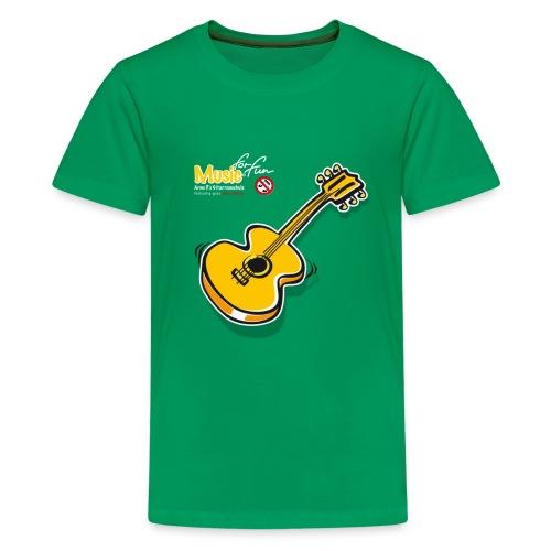 MusicForFun - dunkler Hintergrund - Teenager Premium T-Shirt
