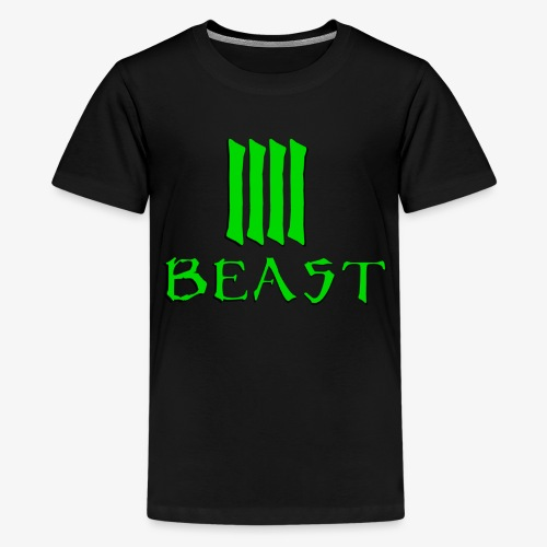 Beast Green - Teenage Premium T-Shirt