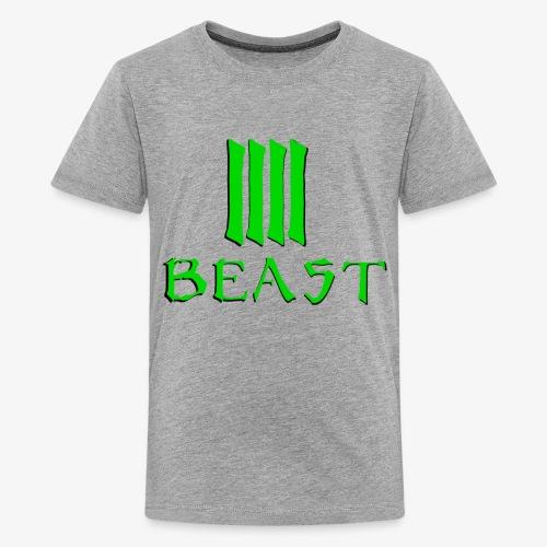 Beast Green - Teenage Premium T-Shirt