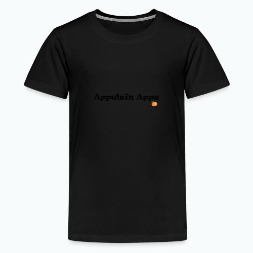 Appelsin Logo - Premium-T-shirt tonåring