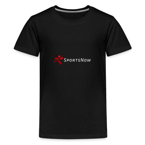 SportsNow-Logo mit weisser Schrift - Teenager Premium T-Shirt