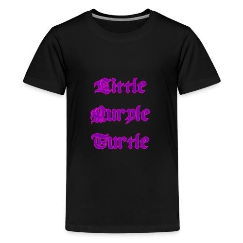 Little Purple Turtle - Teenage Premium T-Shirt