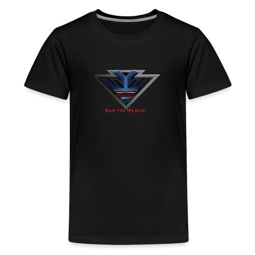 Wild Erah Logo BLACK NAVYBLUE png - Teenage Premium T-Shirt