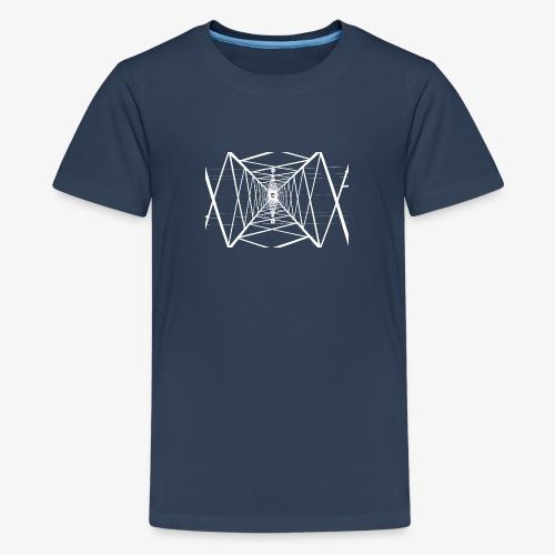 Quermast V2 Weiß - Teenager Premium T-Shirt
