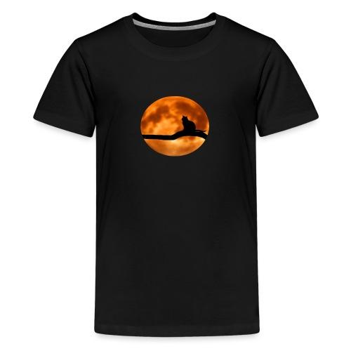 Katze mond silouette - Teenager Premium T-Shirt