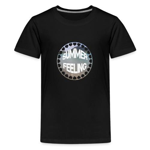 LIMITED SUMMER FEELING Schriftzug - Teenager Premium T-Shirt