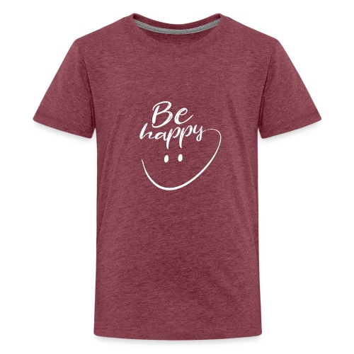 Be Happy With Hand Drawn Smile - Teenage Premium T-Shirt