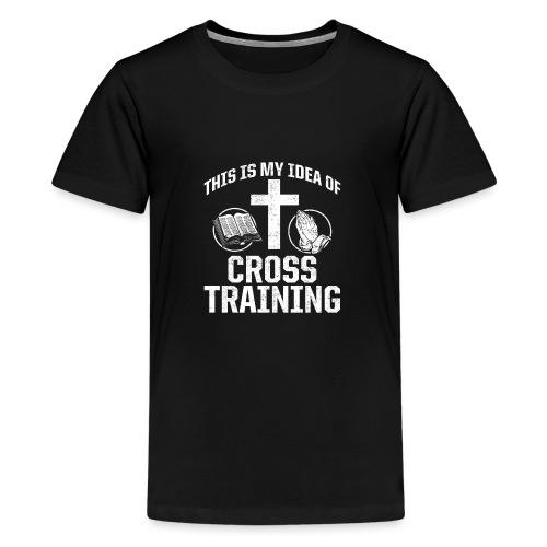 Sport mit Jesus und Bibel lesen Christen Spruch - Teenager Premium T-Shirt