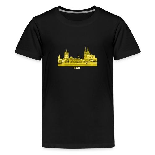 Köln Dom Rhein Nordrhein-Westfalen Deutschland - Teenager Premium T-Shirt