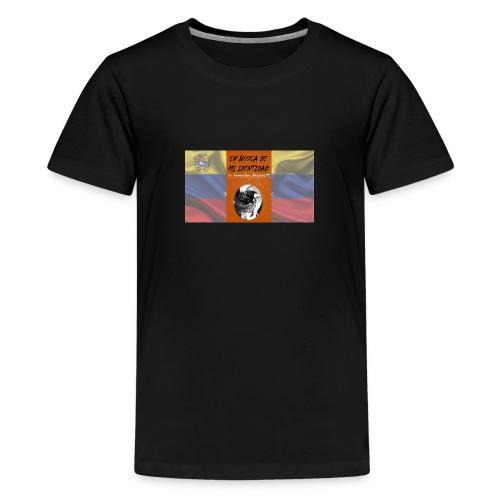 Venezuela lucha sola - Camiseta premium adolescente