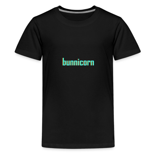Triple colour Bunnicorn embroidery - Teenage Premium T-Shirt