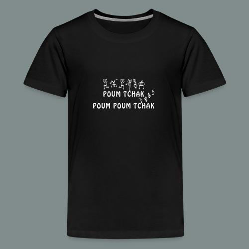 Batterie poum tchak - idee cadeau batteur - T-shirt Premium Ado