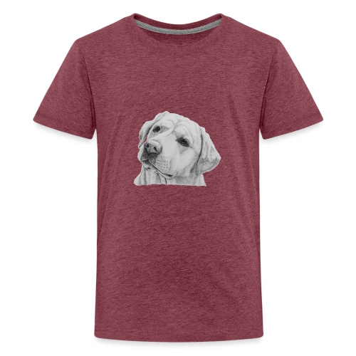 labrador retriever yellow - head - Teenager premium T-shirt