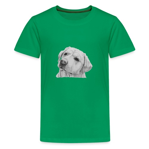 labrador retriever yellow - head - Teenager premium T-shirt