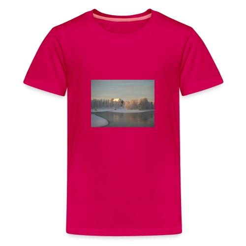 Talvinen Joensuu - Teinien premium t-paita