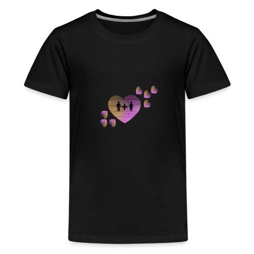 couple amoureux - T-shirt Premium Ado