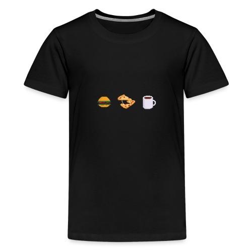 Pixel geeky food - T-shirt Premium Ado