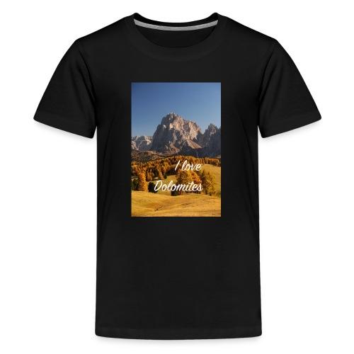 Langkofel - Wahrzeichen Südtirols - Teenager Premium T-Shirt