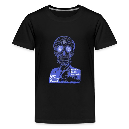 BBB-Day-Of-The-Dead-Blue - Teenage Premium T-Shirt
