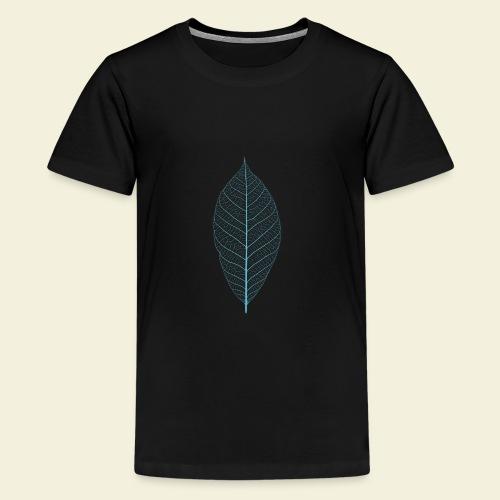 Feuille bleu Squelette - T-shirt Premium Ado