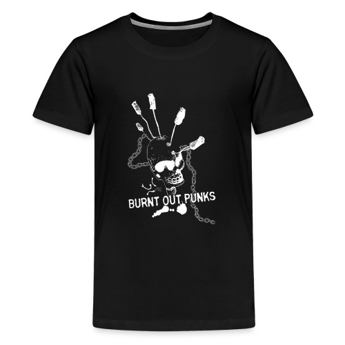 Burnt Out Punks Black Hoodie - Teenage Premium T-Shirt