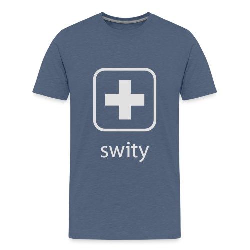 Schweizerkreuz-Kappe (swity) - Teenager Premium T-Shirt