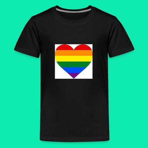 Pride- Heart - Teenage Premium T-Shirt