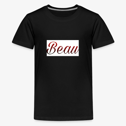 itzBeau Beau with white background - Teenage Premium T-Shirt