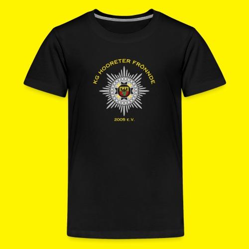 Gelbe Schrift - Teenager Premium T-Shirt