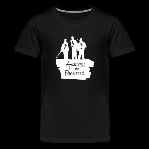logo apache blanc - T-shirt Premium Ado