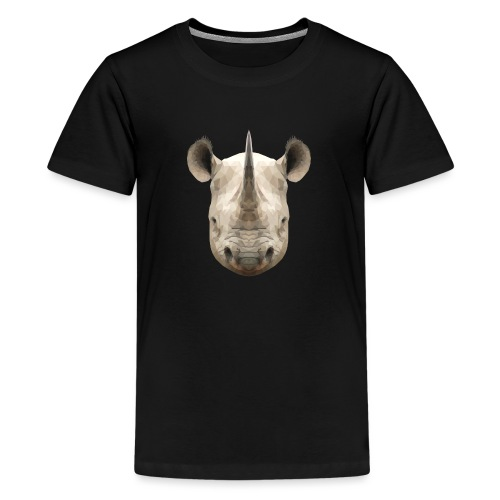 LowPoly Rhino - Premium-T-shirt tonåring