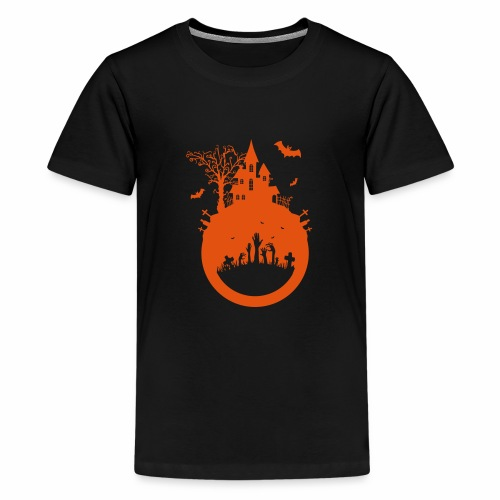 Halloween Design - Das Spukhaus - Teenager Premium T-Shirt