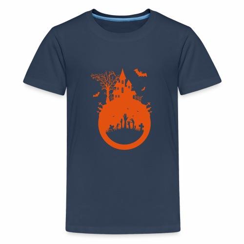 Halloween Design - Das Spukhaus - Teenager Premium T-Shirt