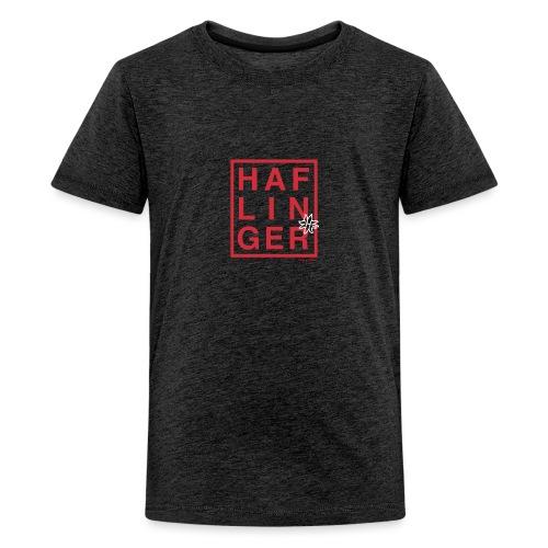 Haflinger Schriftzug / Pferd - Teenager Premium T-Shirt