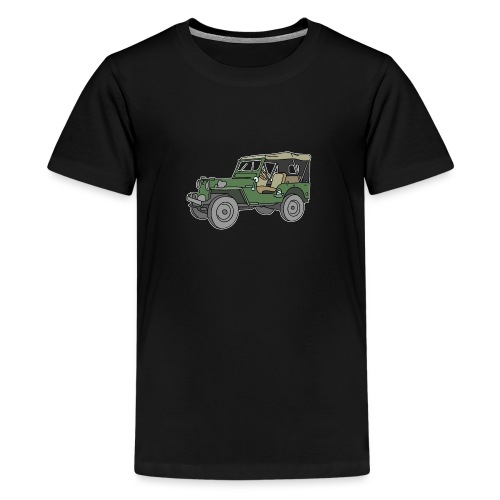 Grüner Geländewagen SUV - Teenager Premium T-Shirt