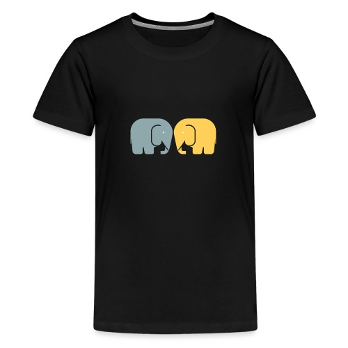 Vi två elefanter - Premium-T-shirt tonåring