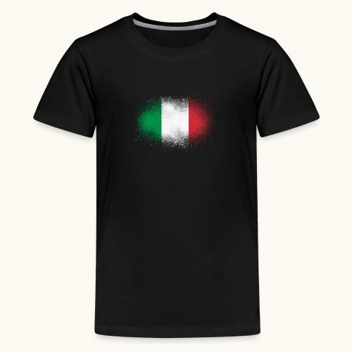 Italie cadeau drôle de drapeau italien grunge - T-shirt Premium Ado
