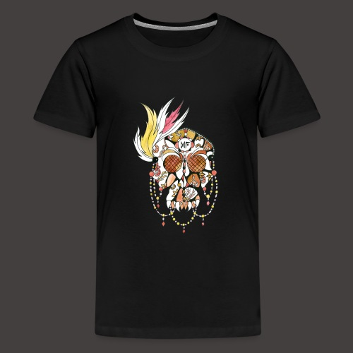 Crane dentelle Feu fond noir - T-shirt Premium Ado