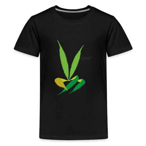 LeafHandDes3 png - Teenager Premium T-shirt