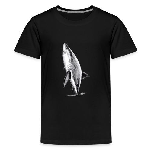 Gran tiburón blanco - Great white shark - Camiseta premium adolescente