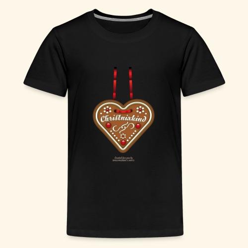 Ugly Christmas Lebkuchenherz Weihnachten - Teenager Premium T-Shirt