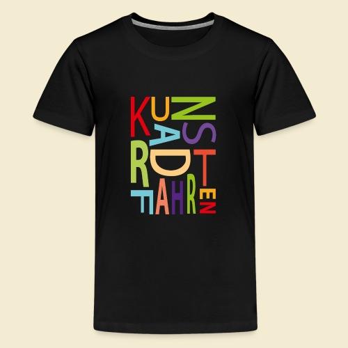 Kunstrad | Kunstradfahren color - Teenager Premium T-Shirt