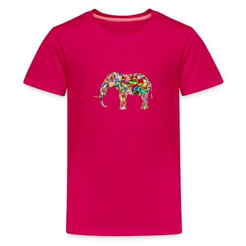 Gestandener Elefant - Teenager Premium T-Shirt