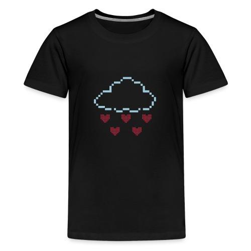 Wolke Pixelherz - Teenager Premium T-Shirt