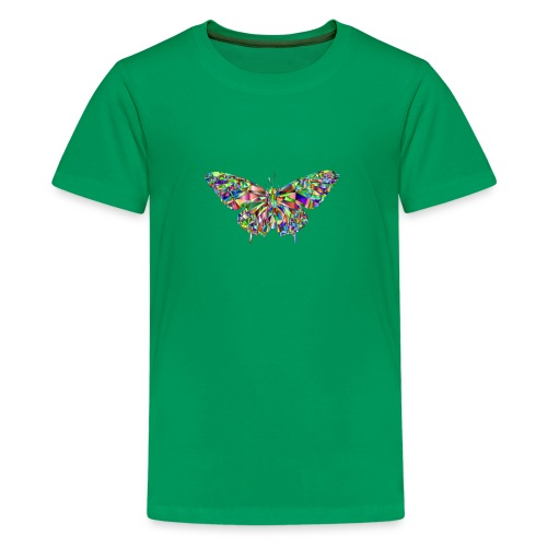 Geflogener Schmetterling - Teenager Premium T-Shirt
