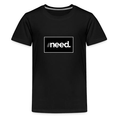 logo need official bg black - T-shirt Premium Ado